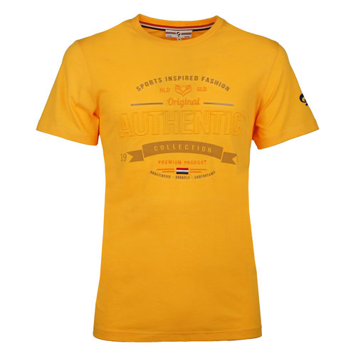 Men's T-shirt Domburg  -  Ochre Yellow