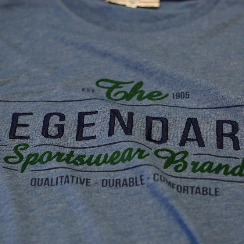 Q1905 Men's T-shirt Texel  -  Denim Blue