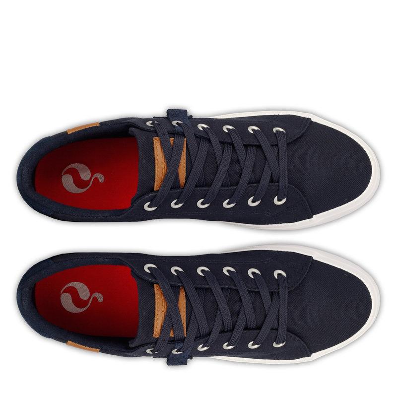 Q1905 Heren Sneaker Laren  -  Donkerblauw