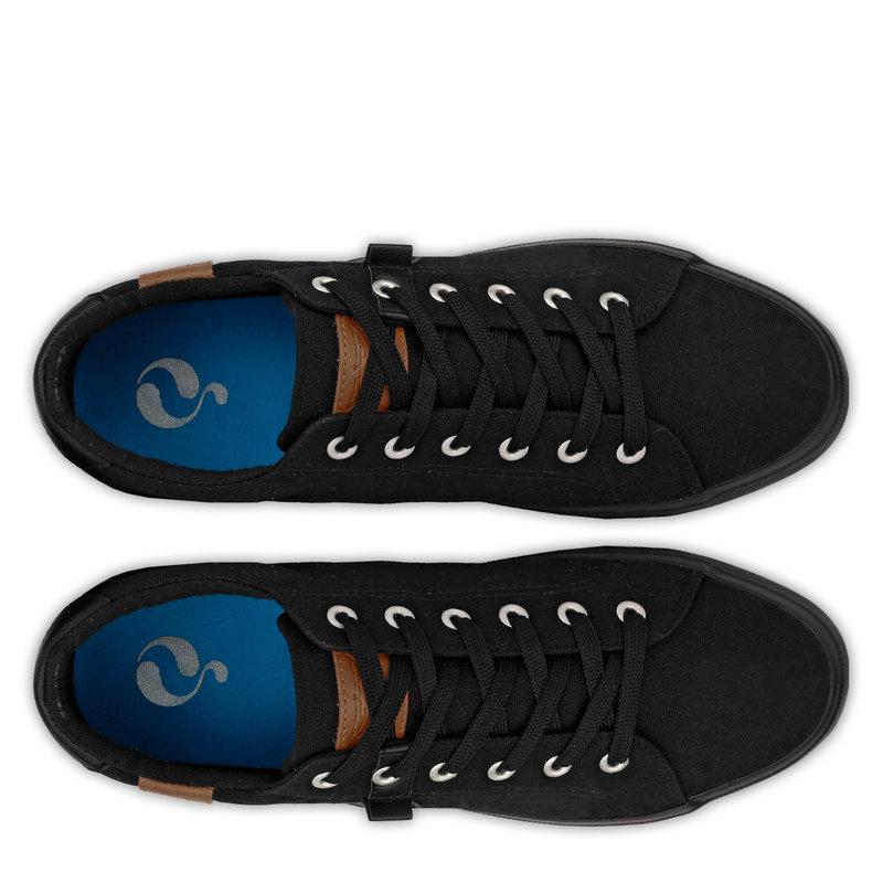 Q1905 Heren Sneaker Laren  -  Zwart