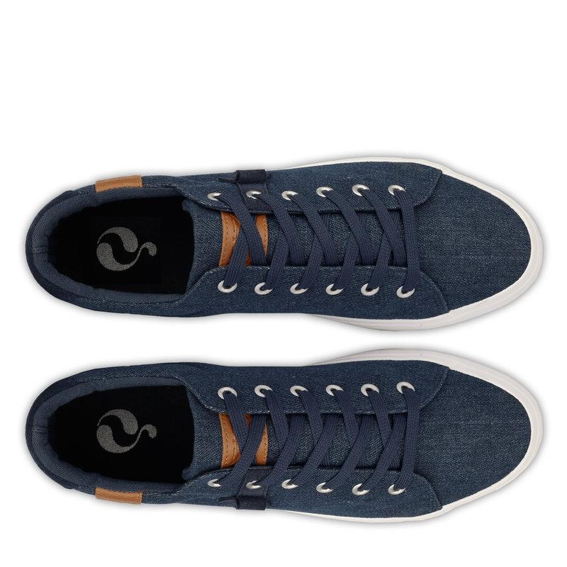 Q1905 Heren Sneaker Laren  -  Donker Denim Blauw