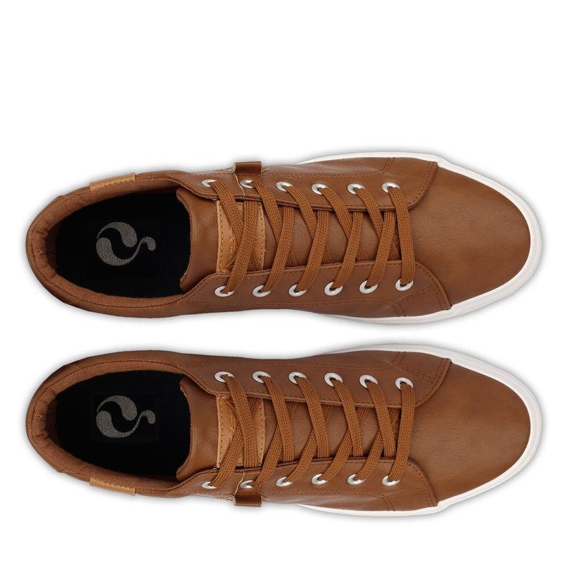 Q1905 Men's Sneaker Laren  -  Cognac (Leatherlook)