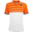Q1905 Heren Polo JL Swing  -  Wit/Oranje