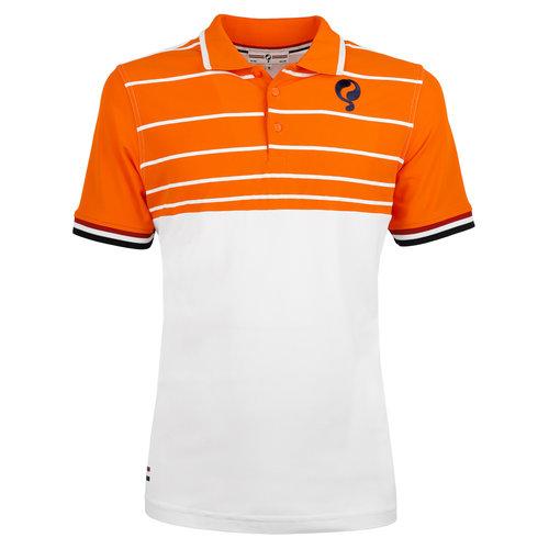 Heren Polo JL Swing  -  Wit/Oranje