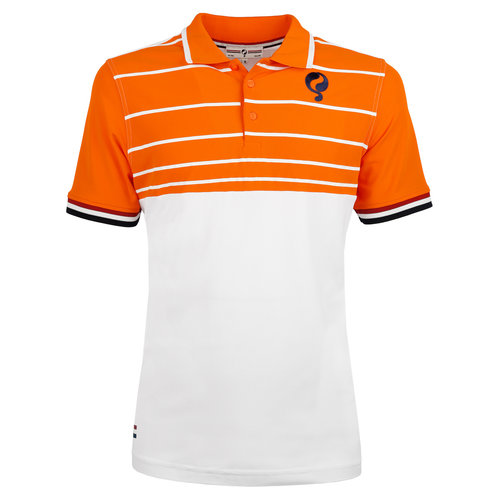 Men's Polo JL Swing  -  White/Orange