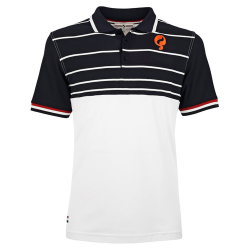 Men's Polo JL Swing  -  White/Dark Blue