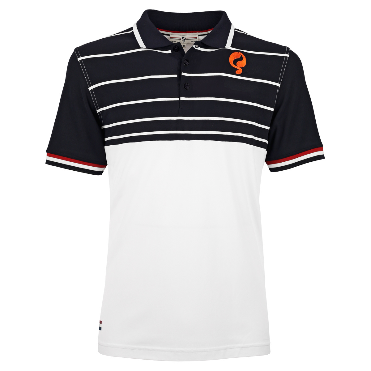 Q1905 Heren Polo JL Swing - Wit/Donkerblauw