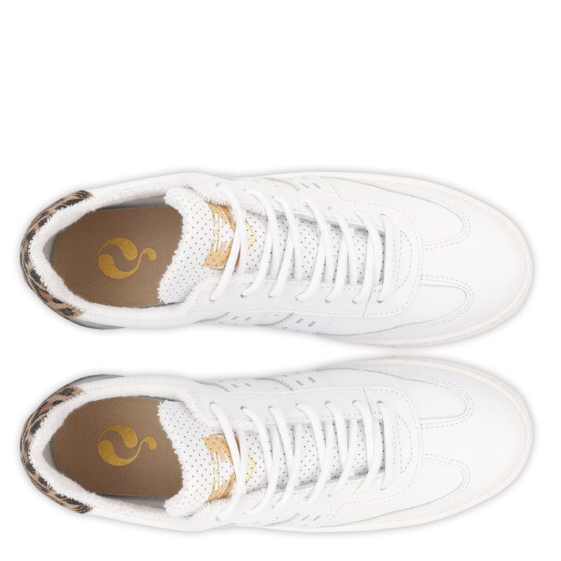 Q1905 Dames Sneaker Titanium  -  Wit/Taupe
