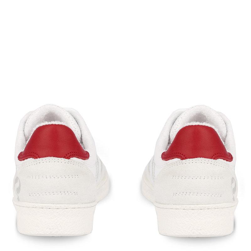 Q1905 Women's Sneaker Titanium  -  White/Red