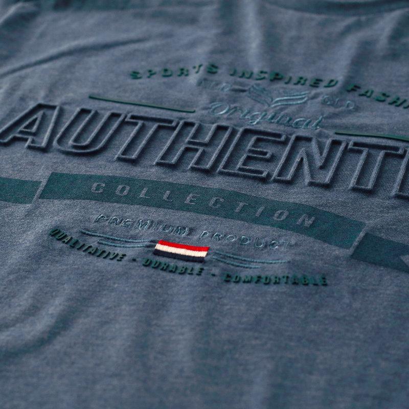 Q1905 Men's T-shirt Domburg  -  Denim Blue
