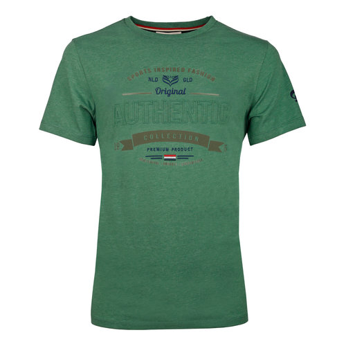 Heren T-shirt Domburg  -  Zeegroen