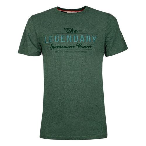 Heren T-shirt Texel  -  Donkergroen