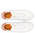 Q1905 Heren Sneaker Titanium  -  Wit/Neon Oranje