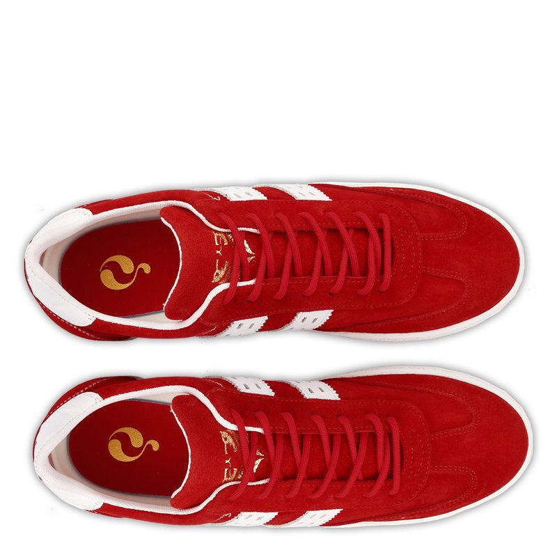 Q1905 Heren Sneaker Titanium  -  Rood/Wit