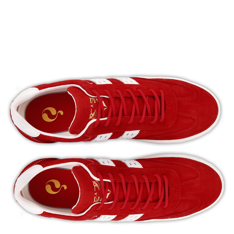 Q1905 Men's Sneaker Titanium  -  Red/White