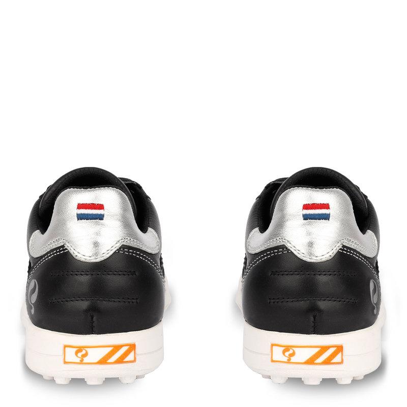 Q1905 Dames Golfschoen Pitch  -  Zwart/Zilver
