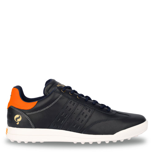 Men's Golf Shoe Pitch  -  Dark Blue/Neon Orange