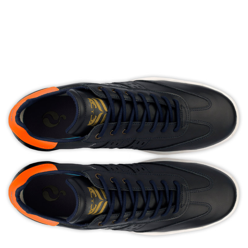 Q1905 Men's Golf Shoe Pitch  -  Dark Blue/Neon Orange