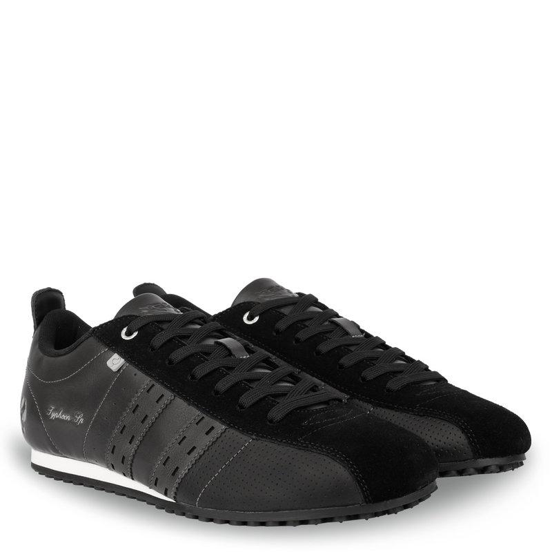 Q1905 Heren Sneaker Typhoon SP  -  Zwart/Donkergrijs