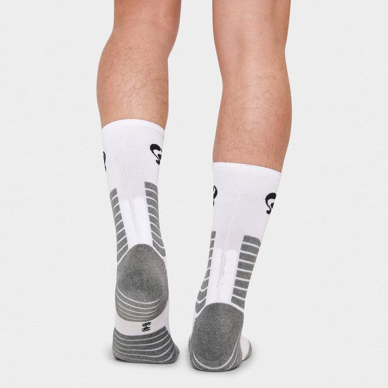 Q1905 Heren Sokken Tech Wit / Zwart / Grijs