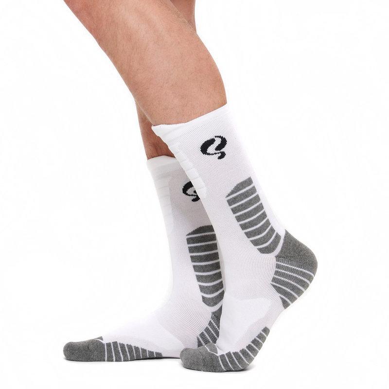 Q1905 Men's Socks Tech White / Black / Grey