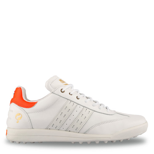 Men's Golf Shoe Pitch  -  White/Neon Orange