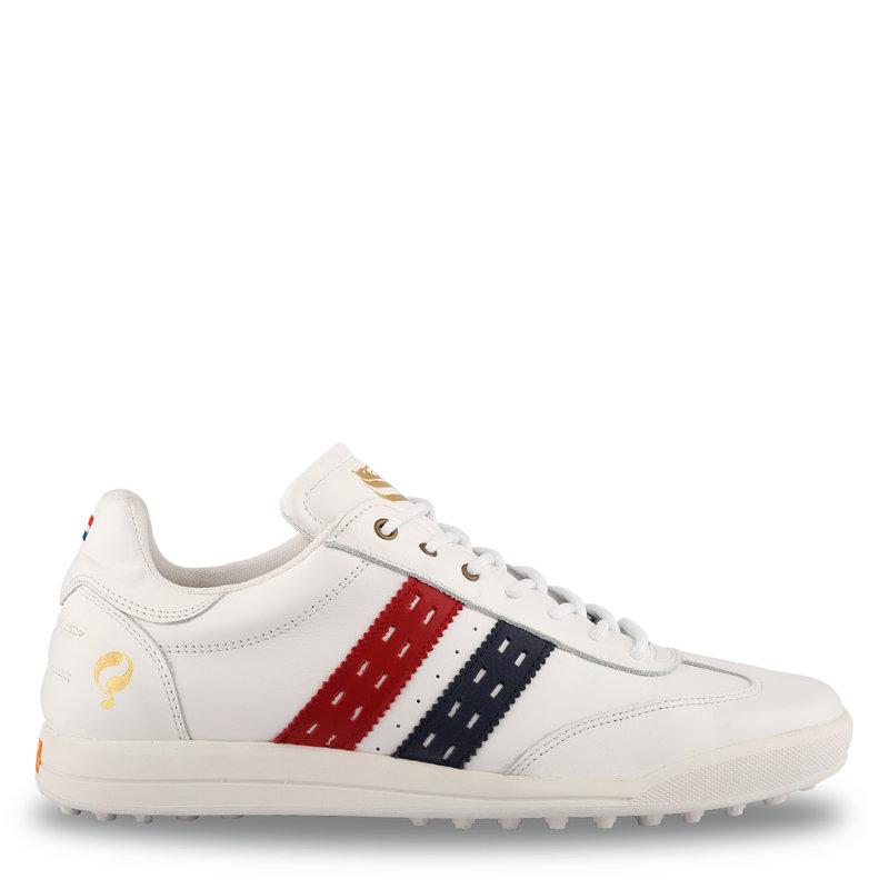 Q1905 Heren Golfschoen Pitch  -  Wit/Rood-donkerblauw
