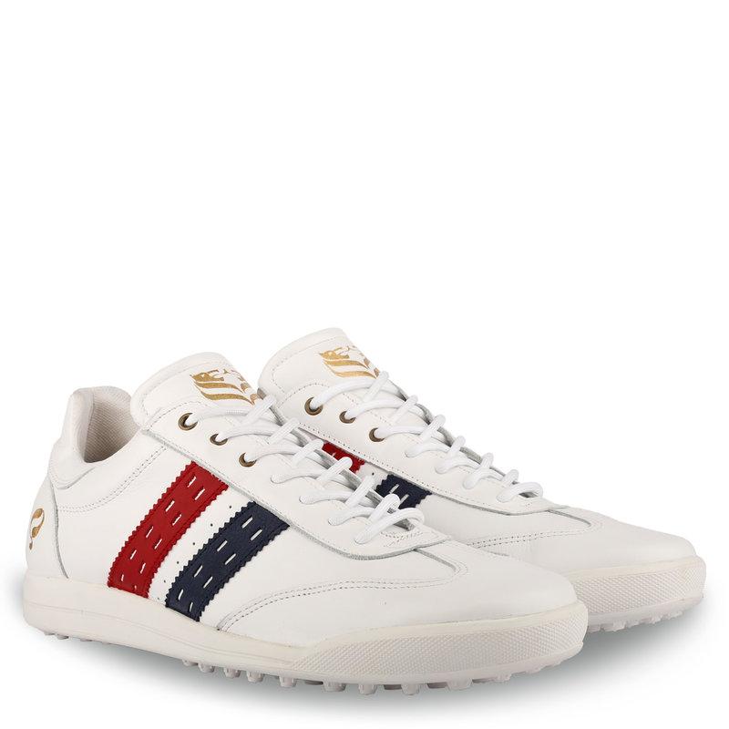 Q1905 Men's Golf Shoe Pitch  -  White/Red-Dark Blue