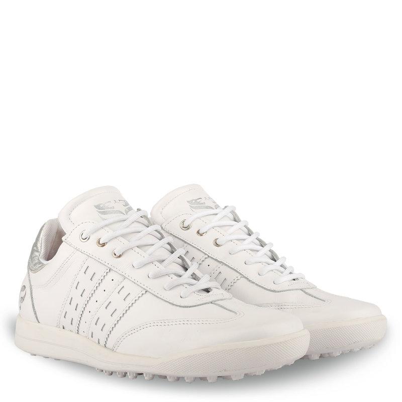 Q1905 Women's Golf Shoe Pitch  -  White/Silver