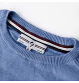 Q1905 Men's Pullover Leusden - Middle blue