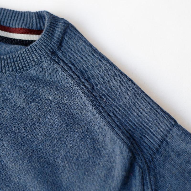 Q1905 Heren Trui Leusden - Denim blauw