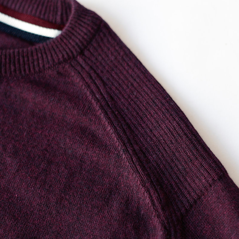 Q1905 Men's Pullover Leusden - Wine red