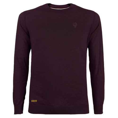 Men's Pullover Leusden - Wine red