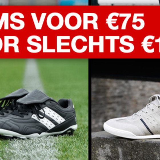 2 FOR €75, 3 FOR €100