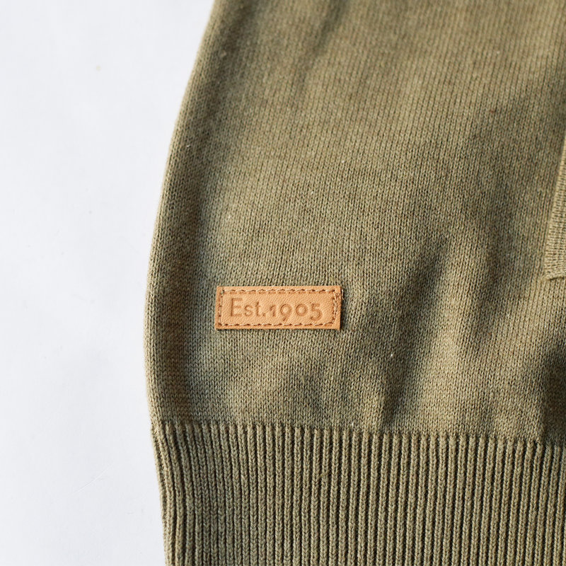 Q1905 Heren Vest Boskoop -  Kaki groen