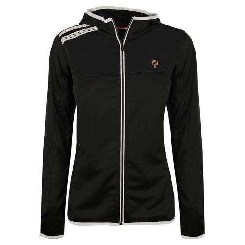 Dames Q Club hooded jacket  -  blue graphite