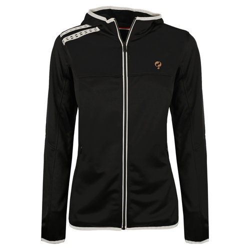 Ladies Q Club hooded jacket  -  blue graphite