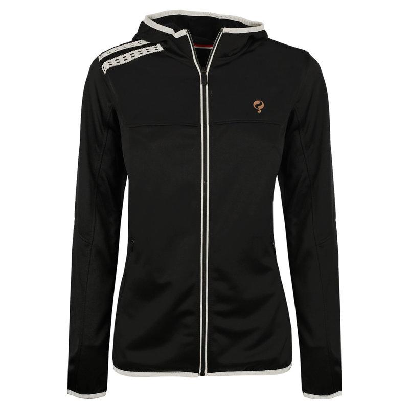 Q1905 Dames Q Club hooded jacket  -  blue graphite
