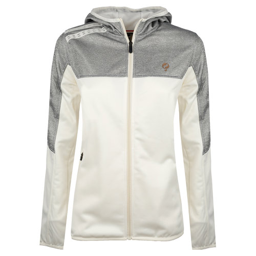 Ladies Q Club hooded jacket  -  snow white