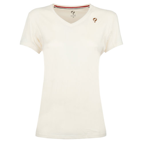 Dames Q Club tee  -  snow white