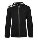 Q1905 Men Q Club hooded jacket  -  blue graphite