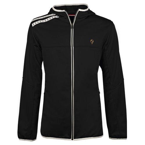 Men Q Club hooded jacket  -  blue graphite