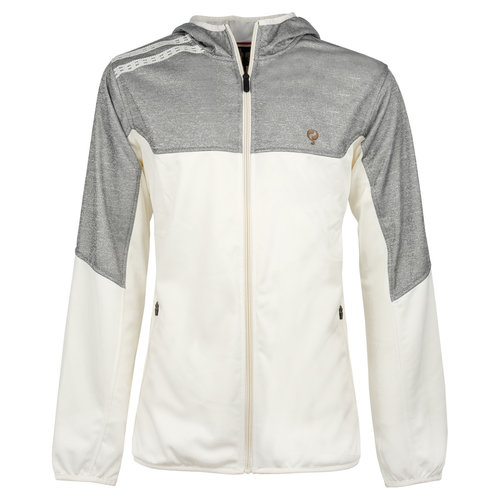 Men Q Club hooded jacket  -  snow white