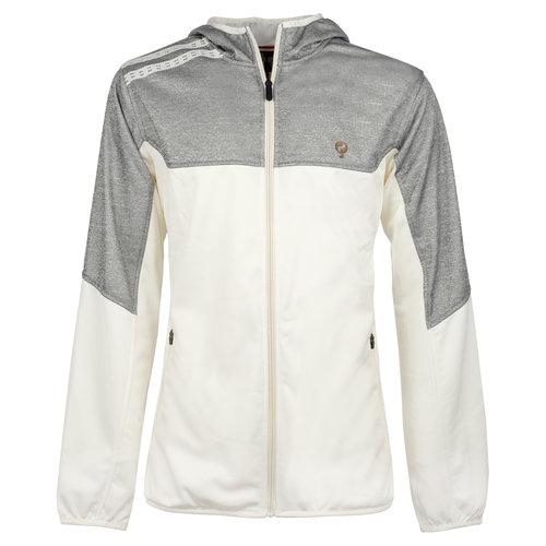 Men Q Club hooded jacket  -  snow white