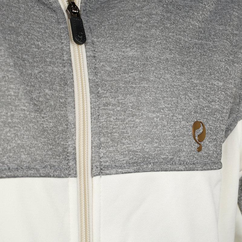 Q1905 Heren Q Club hooded jacket  -  snow white