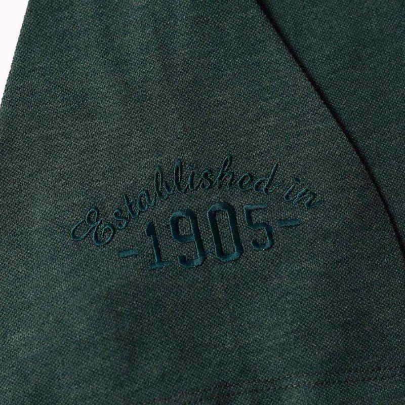 Q1905 Heren Polo Willemstad  -  Donkergroen
