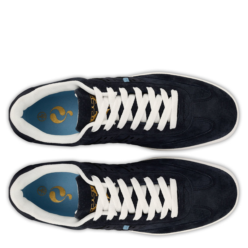 Q1905 Heren Sneaker Platinum  -  Donkerblauw/Denim blauw