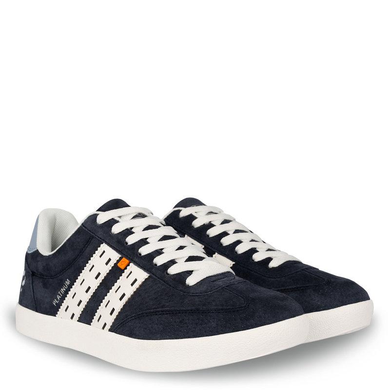 Q1905 Heren Sneaker Platinum  -  Donkerblauw/Wit