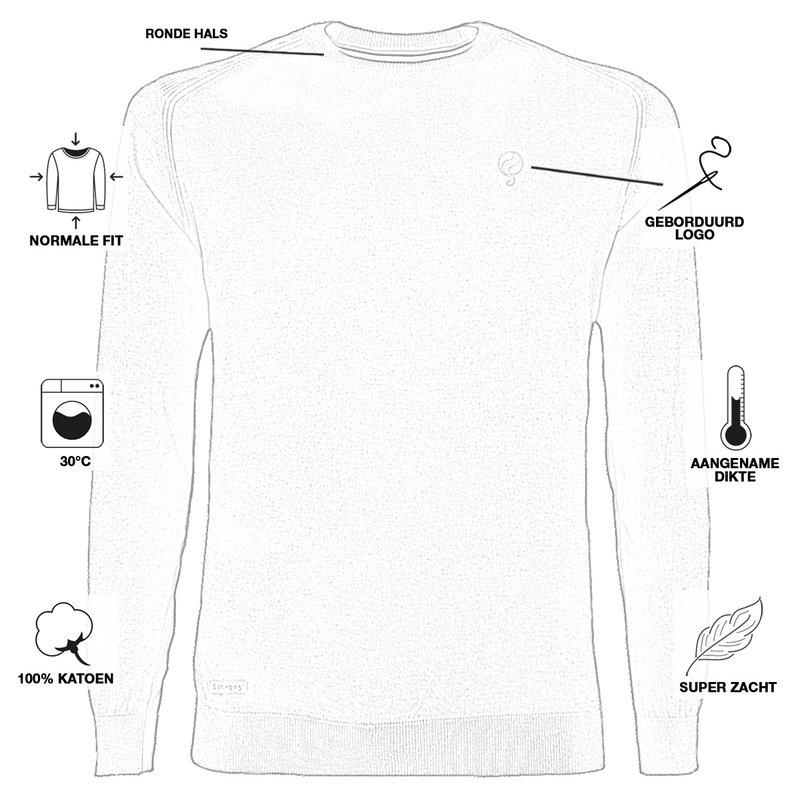 Q1905 Men's Pullover Leusden - Middle gray