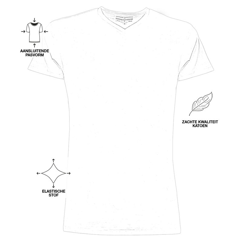 Q1905 Men's T-shirt Diemen  -  White
